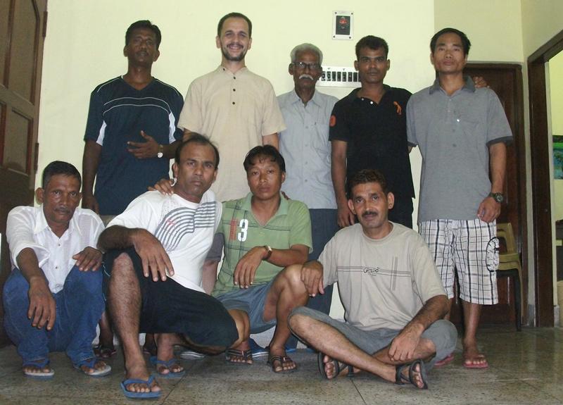 Raj Kumar with the Volunteers in Asha Bhawan, Kolkata